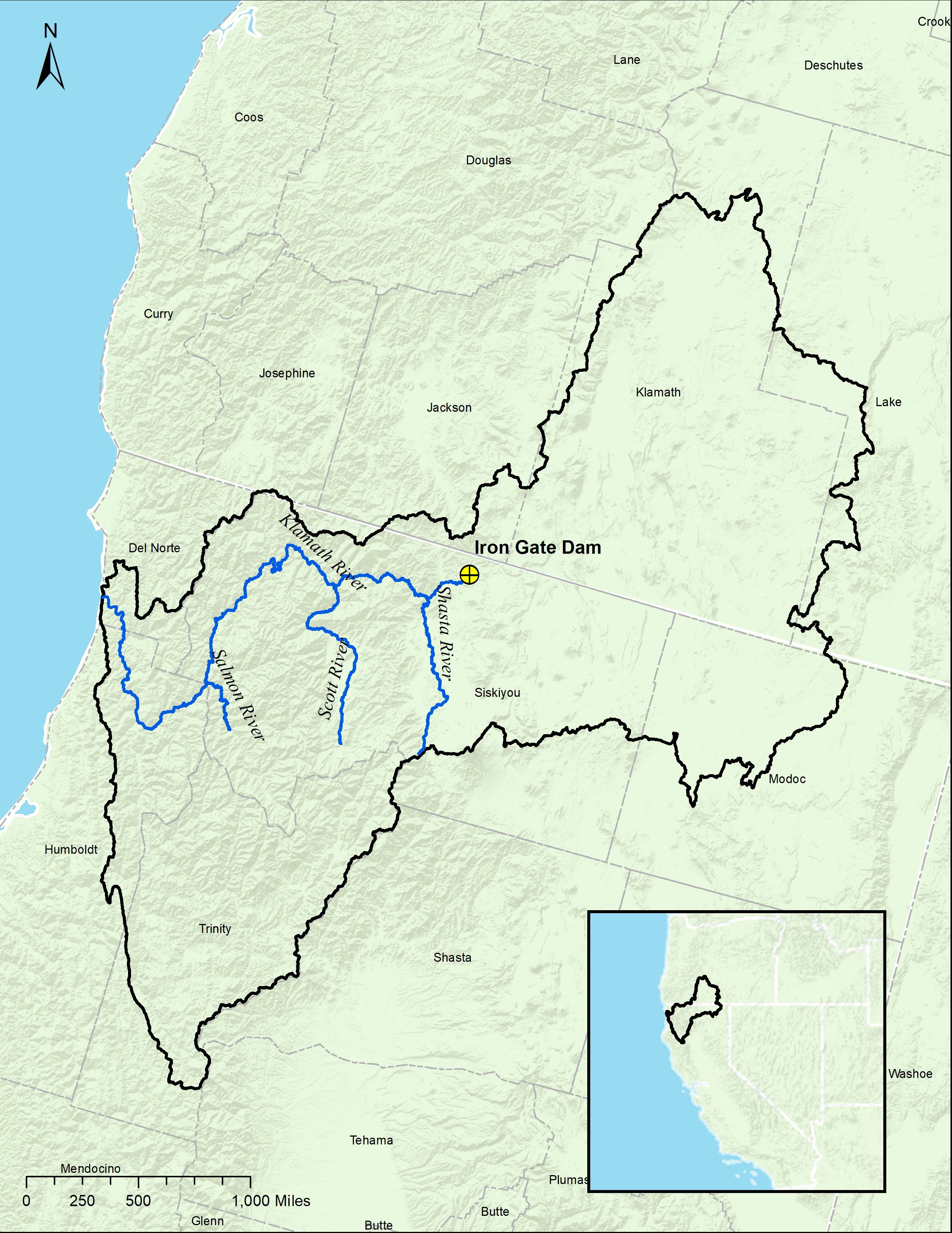 Klamath River Basin Map