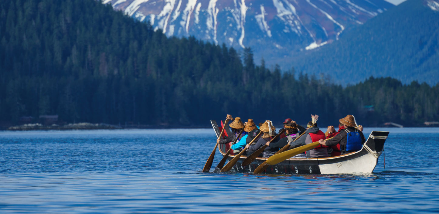 Tribal members explore Alaskan waters | Credit: Spruce Root