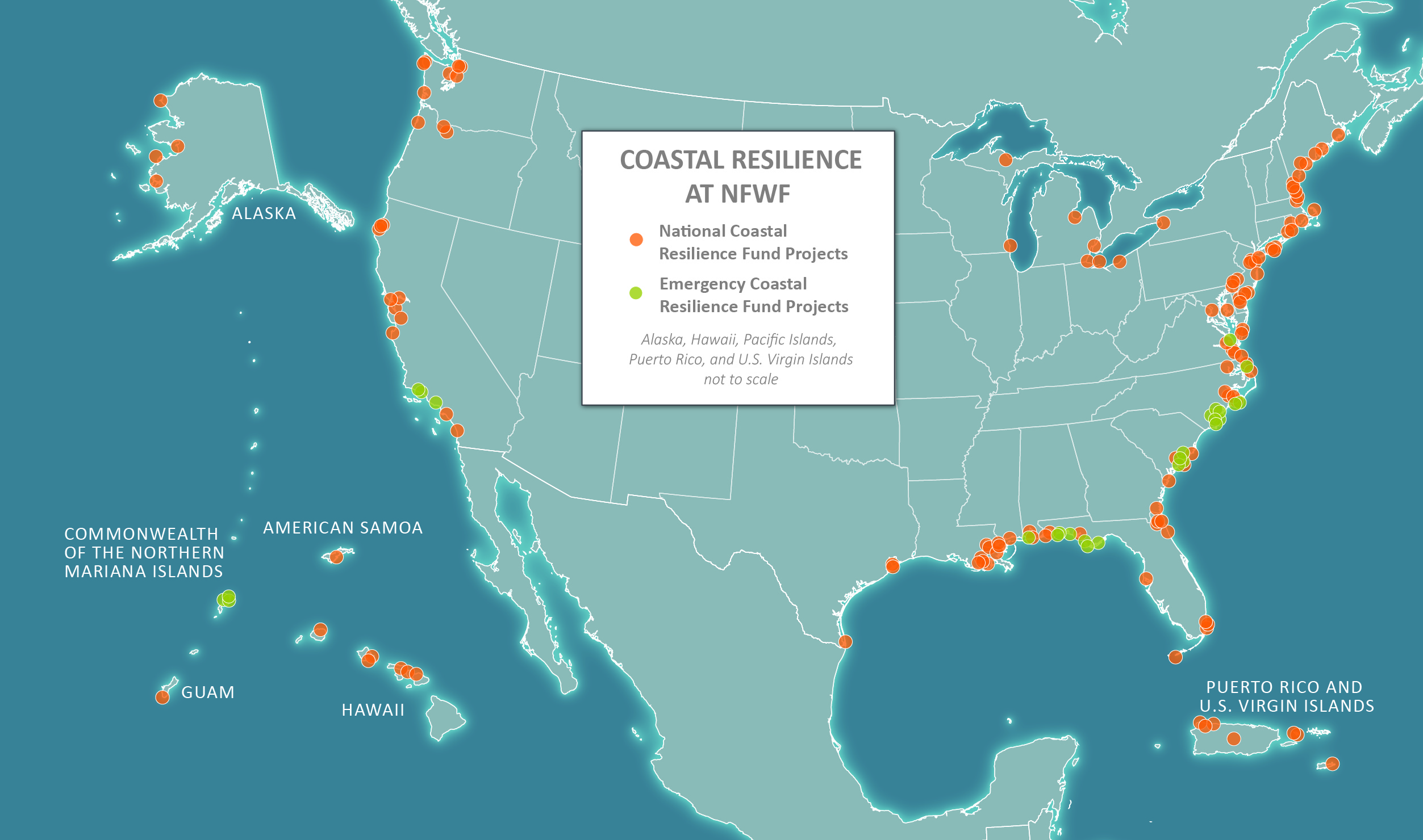 Coastal Resilience map