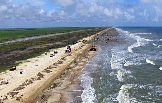 Part of McFaddin Beach restored | KFDM
