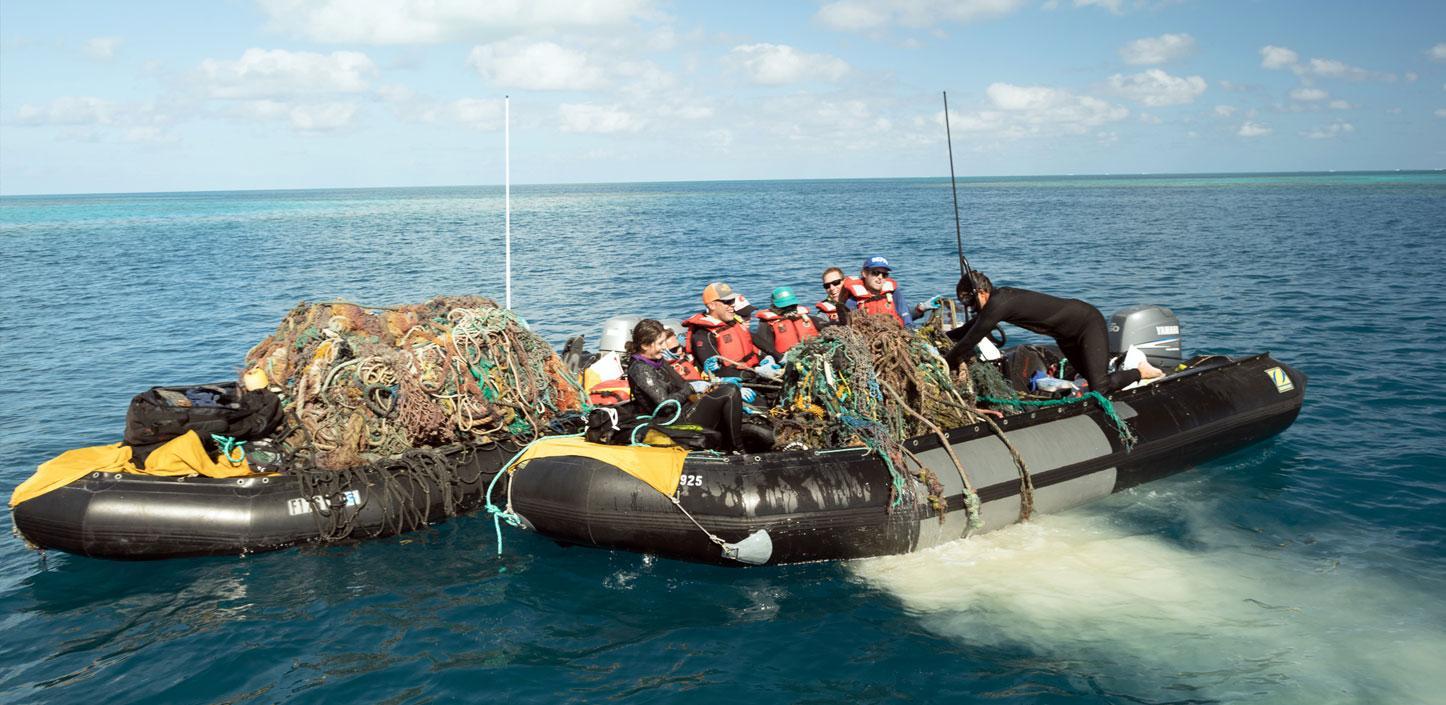 Transporting marine debris out of Papahānaumokuākea Marine National Monument
