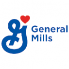 general mills logo which is a large stylized G with the words general mills and a red heart