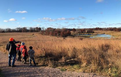 Friends of Sherburne NWR lead a youth birdwatching tour
