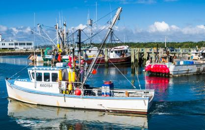 A fishing vessel in New England