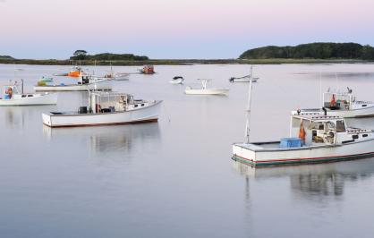 Fishing boats in Maine