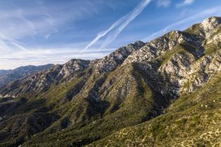 Angeles National Forest mountain ridgeline​