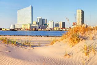 Atlantic City, New Jersey coastline