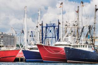 Fishing boats in New Bedford, Massachusetts