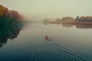 Kayaker on the Huron River