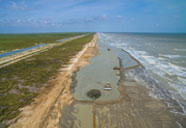 Restoration of beaches and dunes protecting marsh habitat in Texas