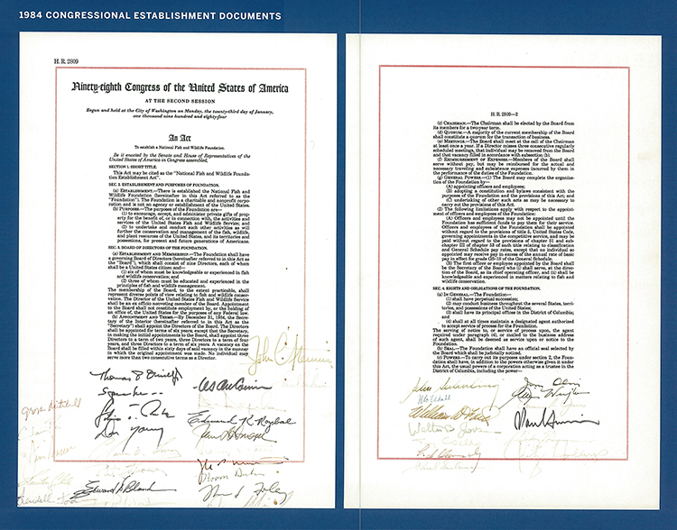 1984 Congressional Establishment Document (Page 1 and 2) 750px.jpg